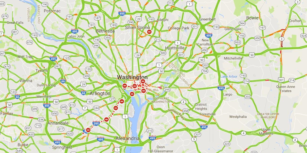 Dc Traffic Map on