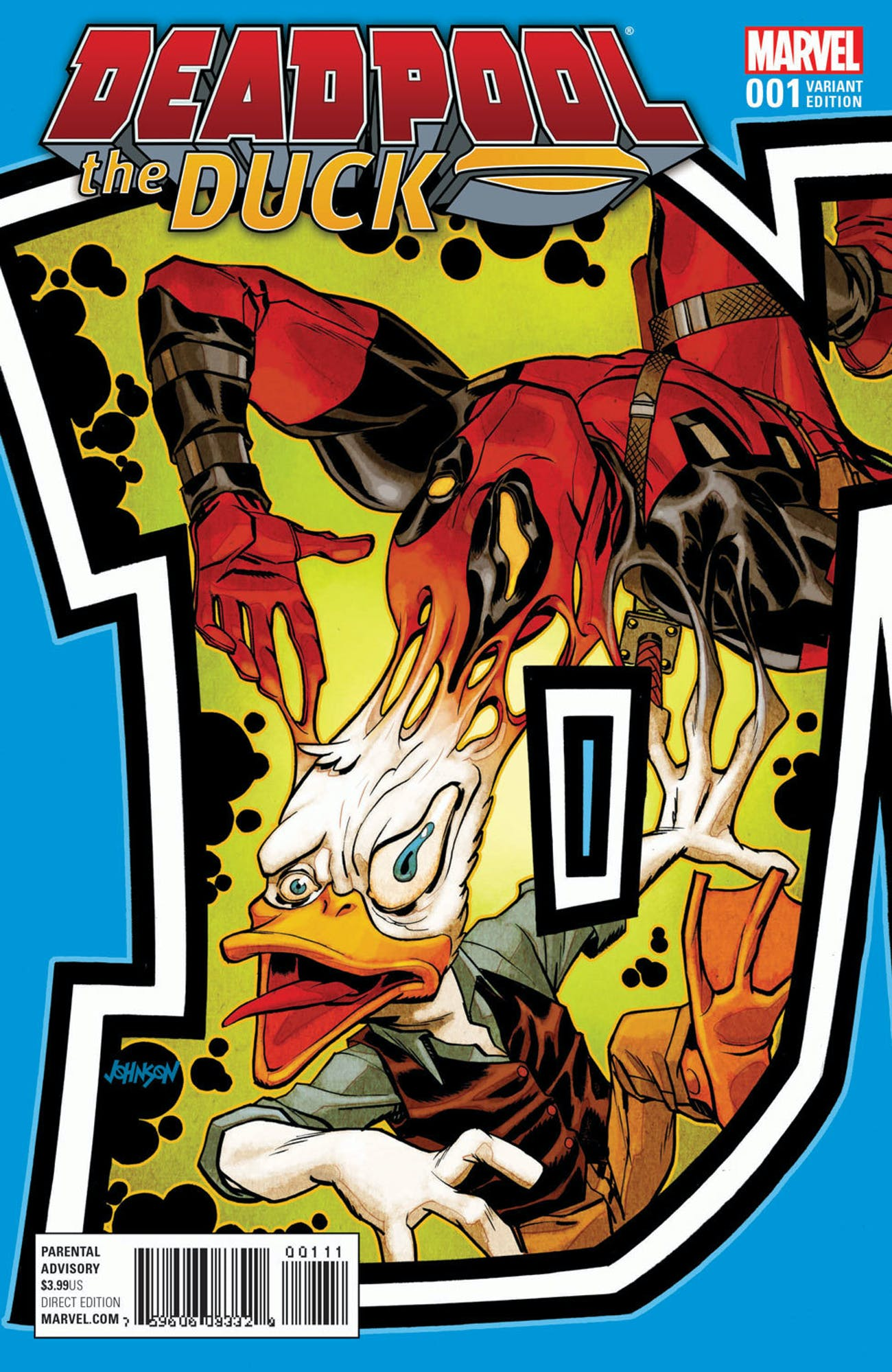 Variant cover for Deadpool the Duck from Marvel Comics