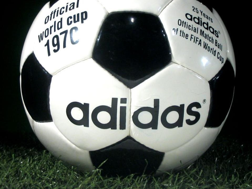 The first World Cup ball with 20 hexagons and 12 pentagons, now an iconic design, was used in 1970.