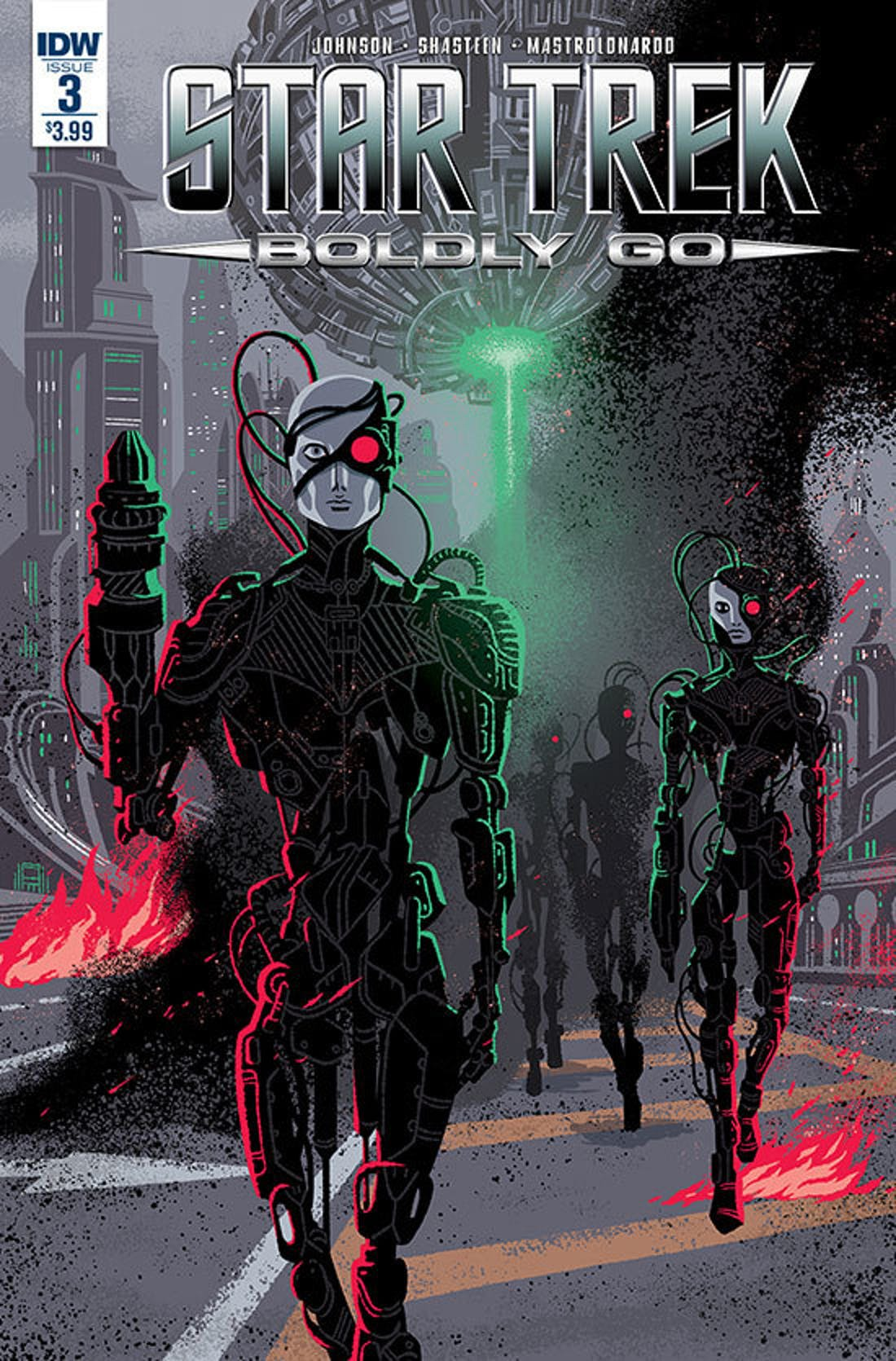 The Borg are back facing the original crew in the IDW comic series.