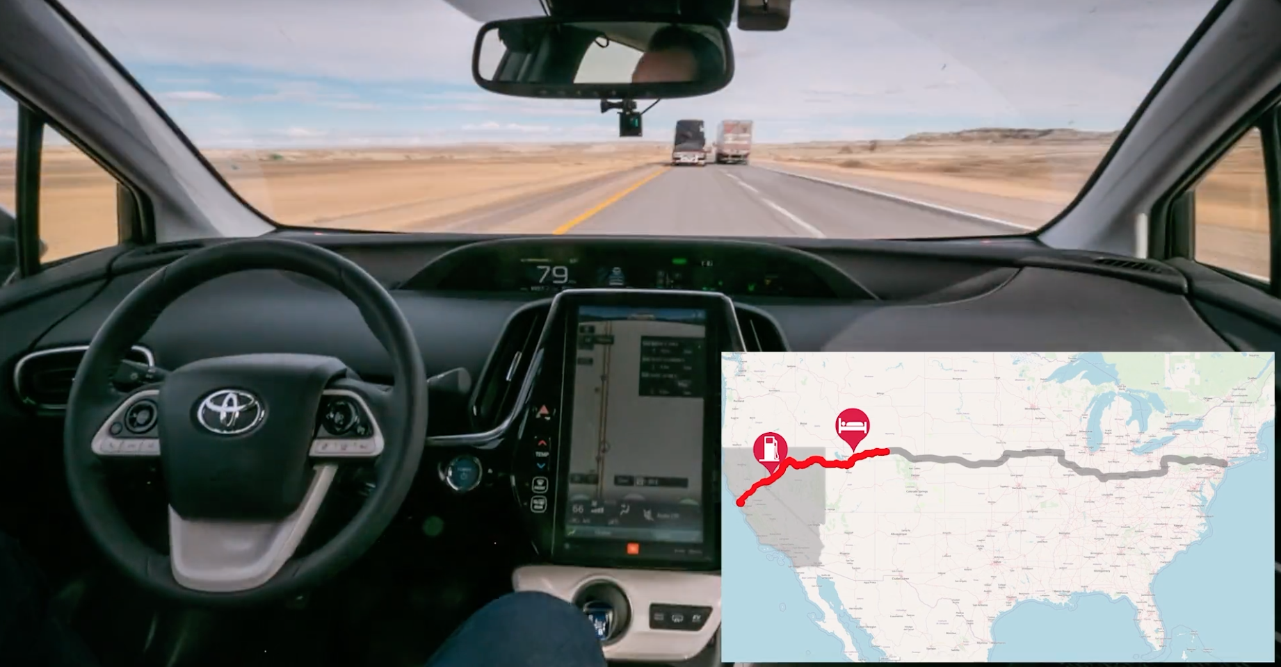 inverse.com - Mike Brown - Video Shows the Autonomous Car A.I. That's Taking This Guy Coast-to-Coast