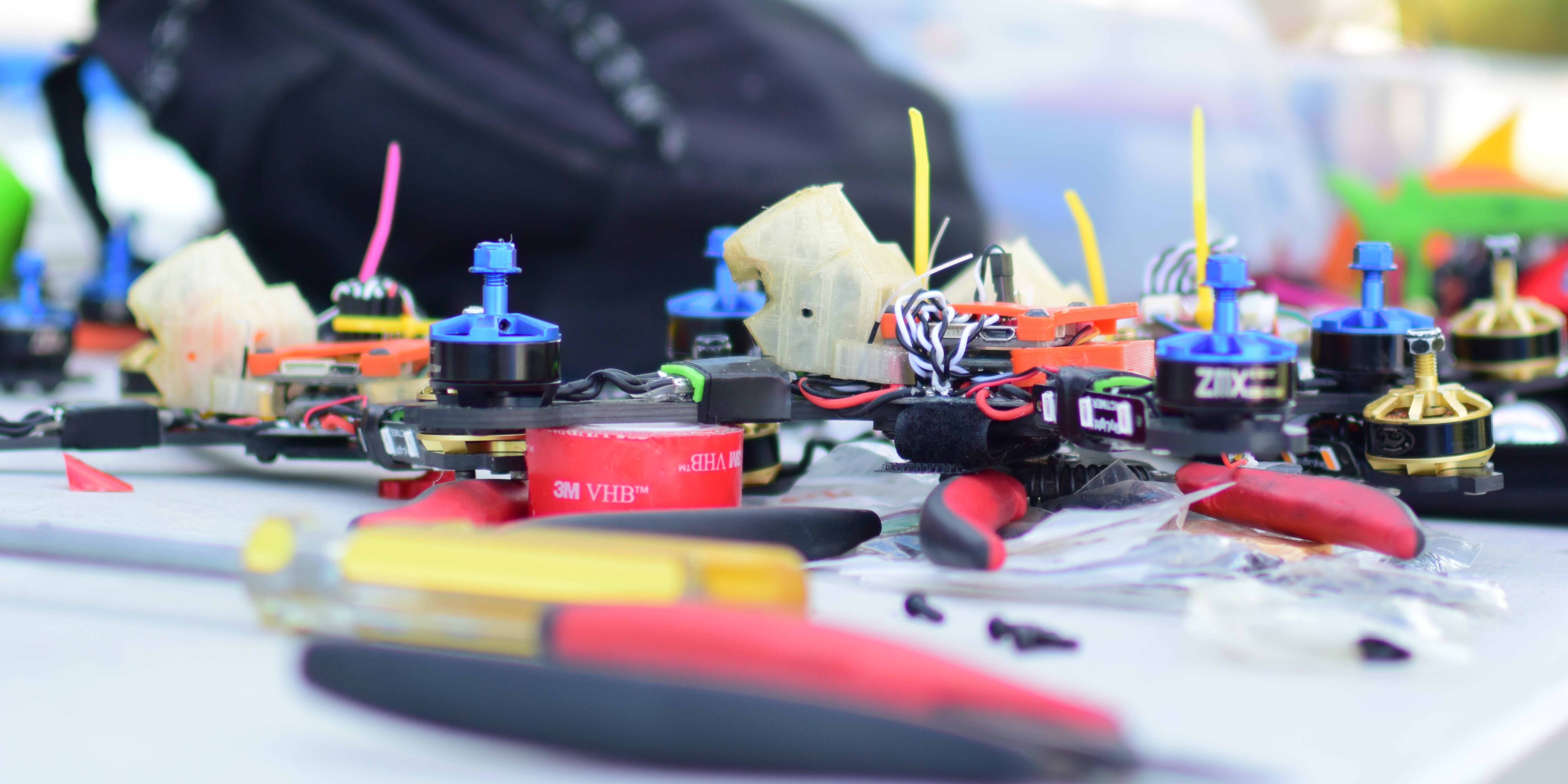 The price of a racing drone varies.