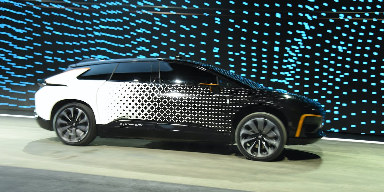 Las Vegas Nv January 03 Faraday Future S Ff 91 Prototype Electric Crossover Vehicle