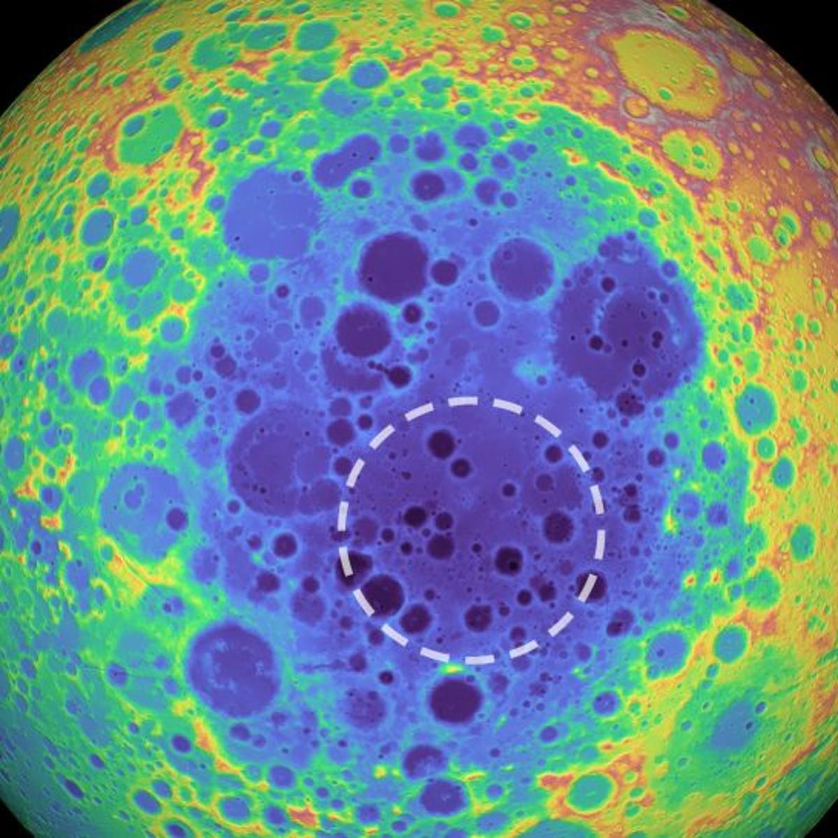 "Scientists detected a metal ""anomaly"" deep beneath the lunar surface"