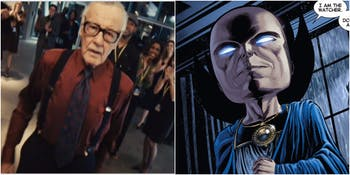 Stan Lee as Larry King and Uatu the watcher
