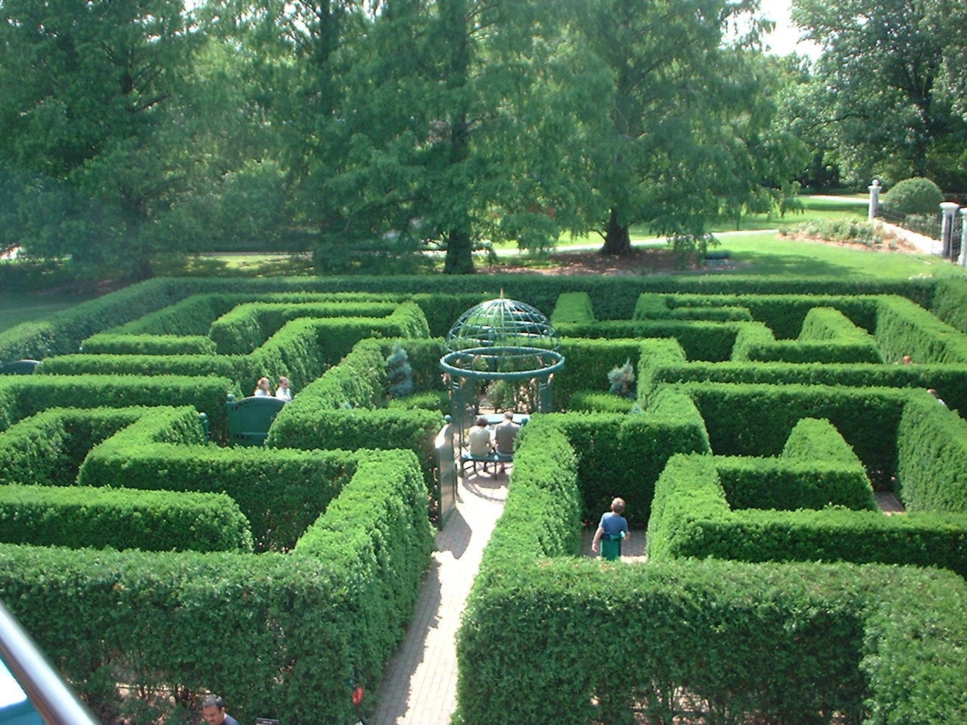 A hedge maze in St. Louis Botanical Gardens in Missouri.