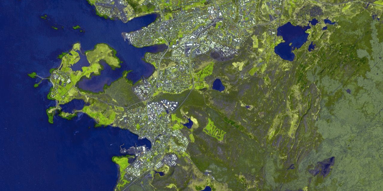 A satellite view of Reykjavik is a satellite view of the future of data security.