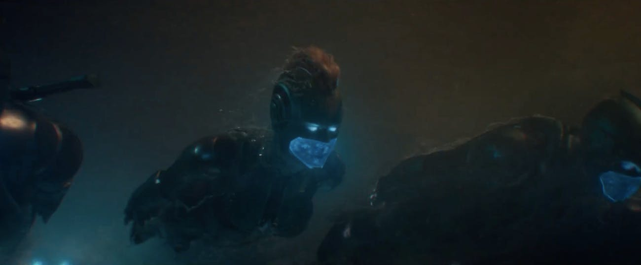 'Captain Marvel' Faux Hawk Helmet