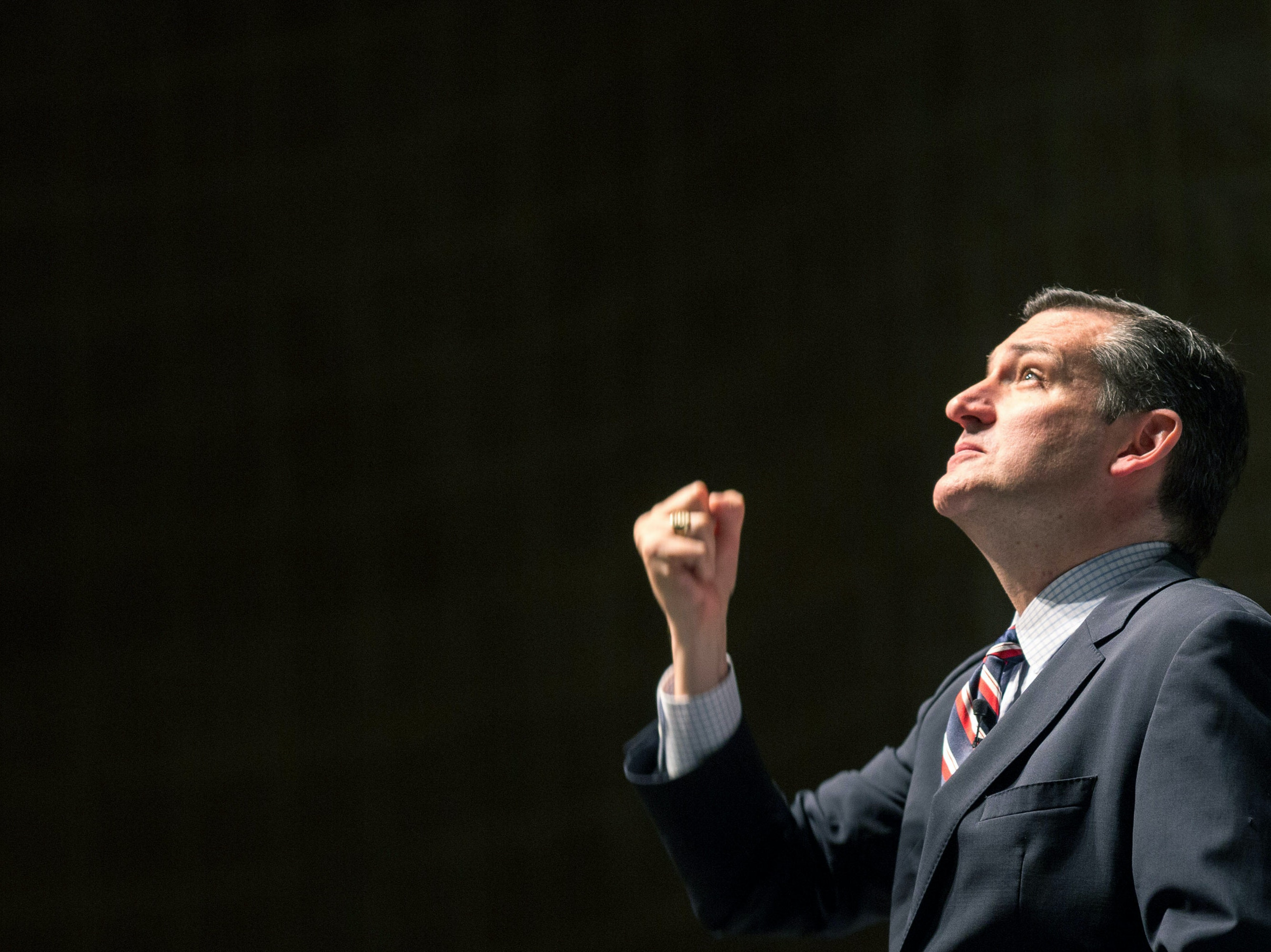 GREENVILLE, SC - MAY 09:  Republican presidential candidate U.S. Sen. Ted Cruz (R-TX) speaks during the Freedom Summit on May 9, 2015 in Greenville, South Carolina. Cruz joined eleven other potential candidates in addressing the event hosted by conservative group Citizens United.  (Photo by Richard Ellis/Getty Images)