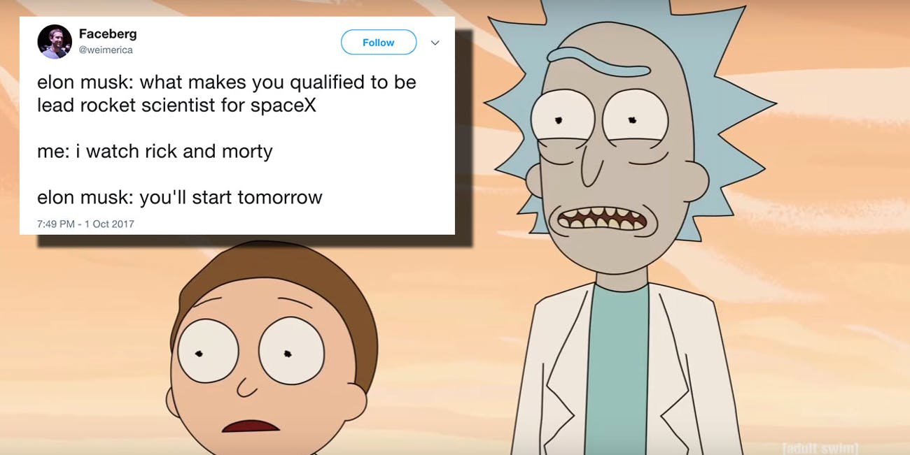 rick and morty memes make fun of the show s fans with high iqs