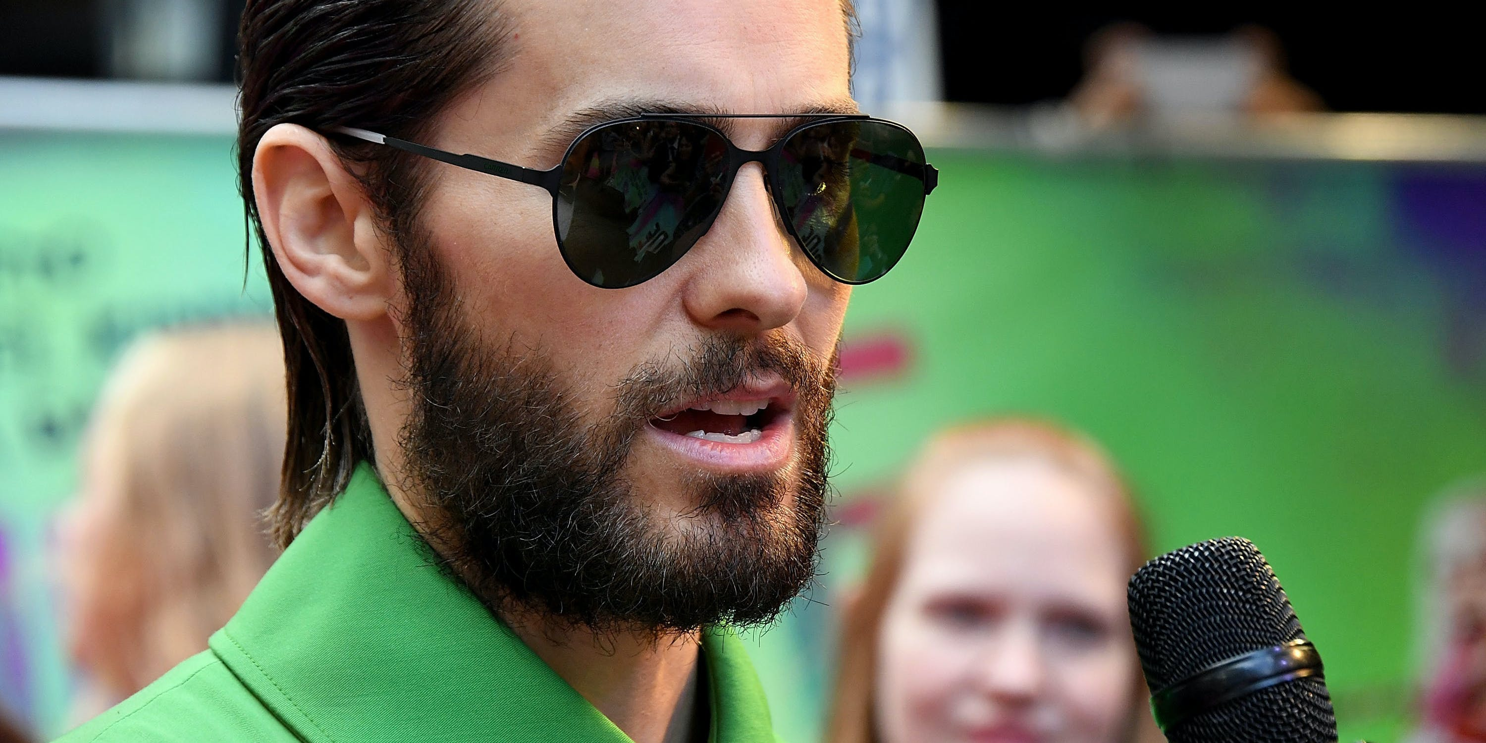 LONDON, ENGLAND - AUGUST 03:  Jared Leto attends the Suicide Squad European Premiere sponsored by Carrera on August 3, 2016 in London, England.  (Photo by Stuart C. Wilson/Getty Images for carrera)