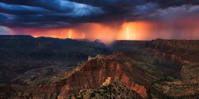 Lightning in the Canyon