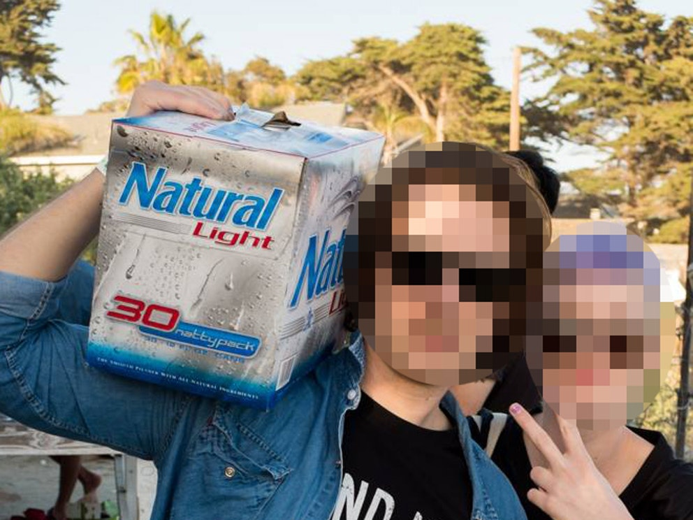 A pixelated image that, to humans but not necessarily machines, obscures identities.