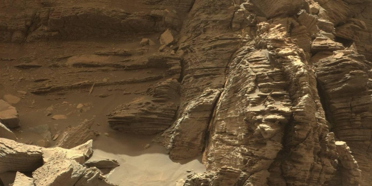 The Murray Buttes on Mars, as photographed by the Curiosity Rover.