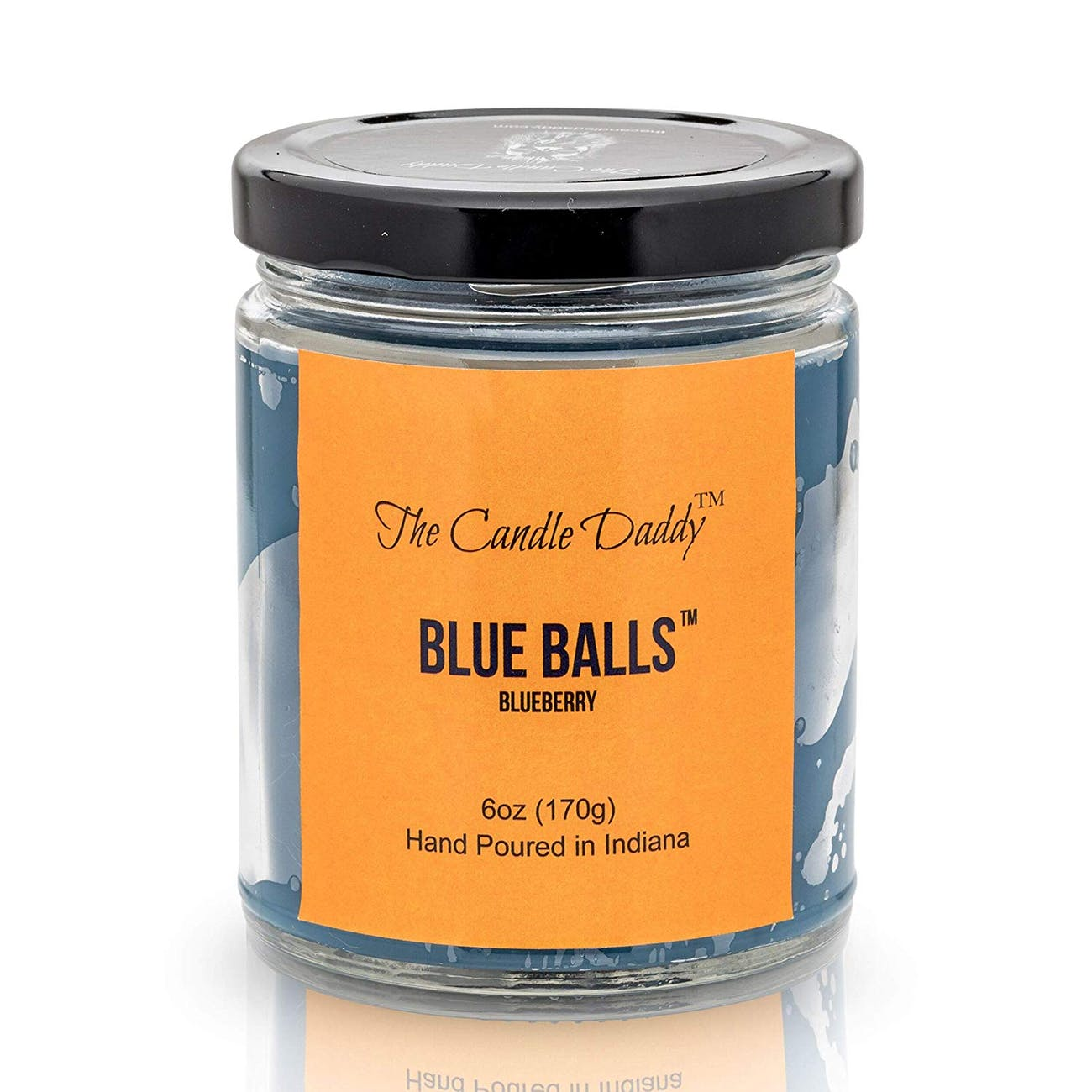 blue balls candle