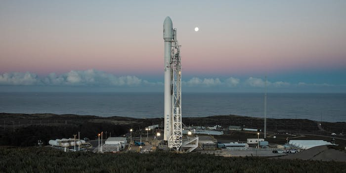 SpaceX prepares to launch its Falcon 9 rocket.  It will launch on Saturday, for the first time since the September 1 launchpad explosion.