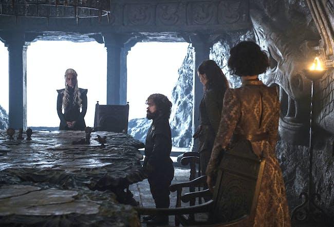 Emilia Clarke and Peter Dinklage in 'Game of Thrones' Season 7 episode 2, 'Stormborn'