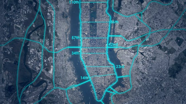Loop NYC plan streets open autonomous car cross traffic revision parks
