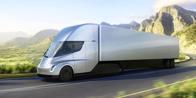 Tesla's semi truck is fast and efficient and electric.