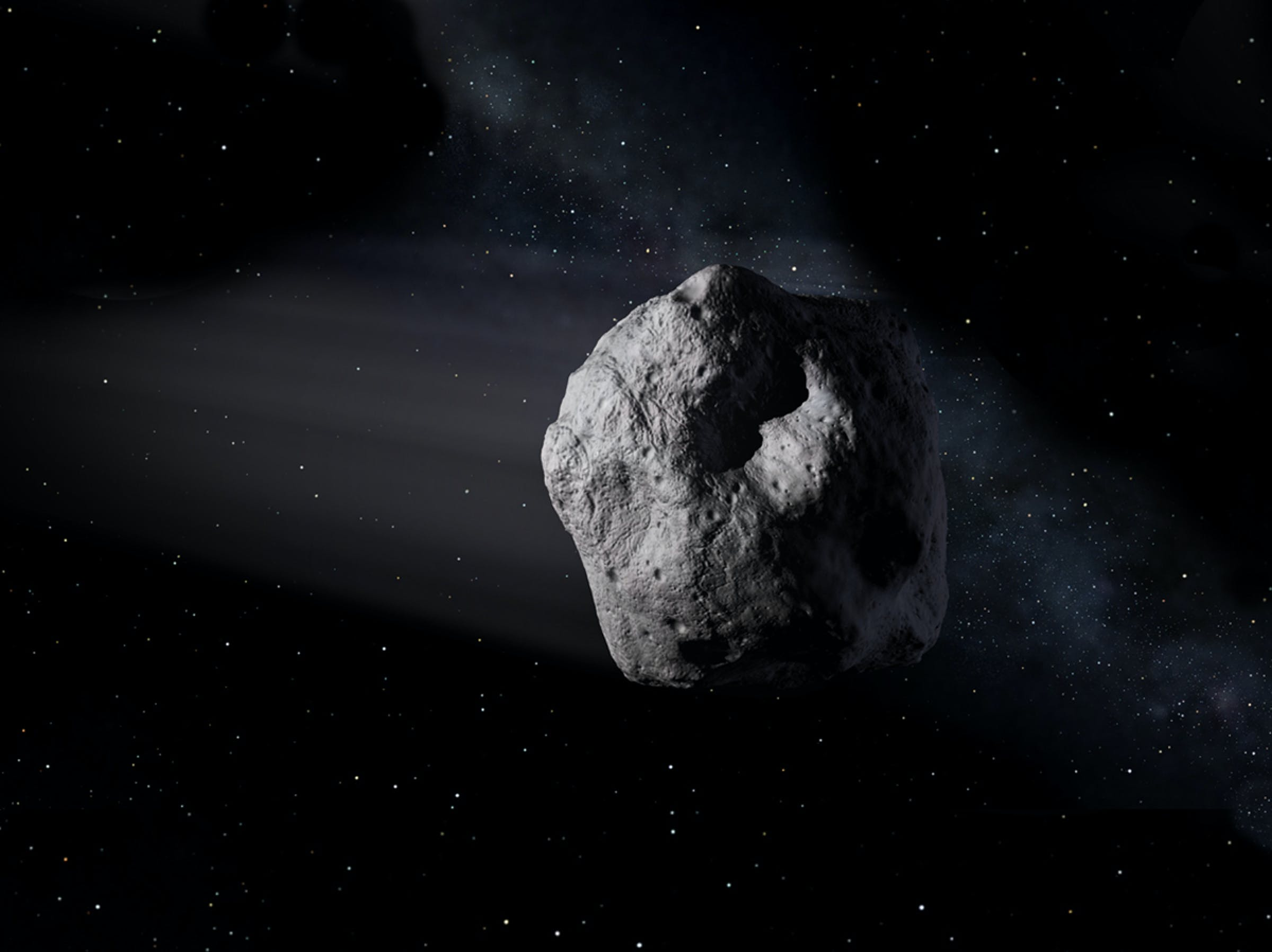 The alien monsters from 'A Quiet Place' could have ridden an asteroid just like this one and somehow survived it crashing into Earth.