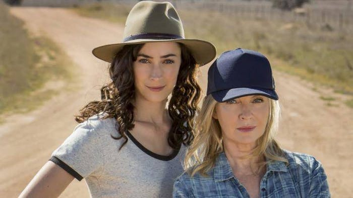 Rebecca Gibney and Geraldine Hakewill -- 'Wanted'.
