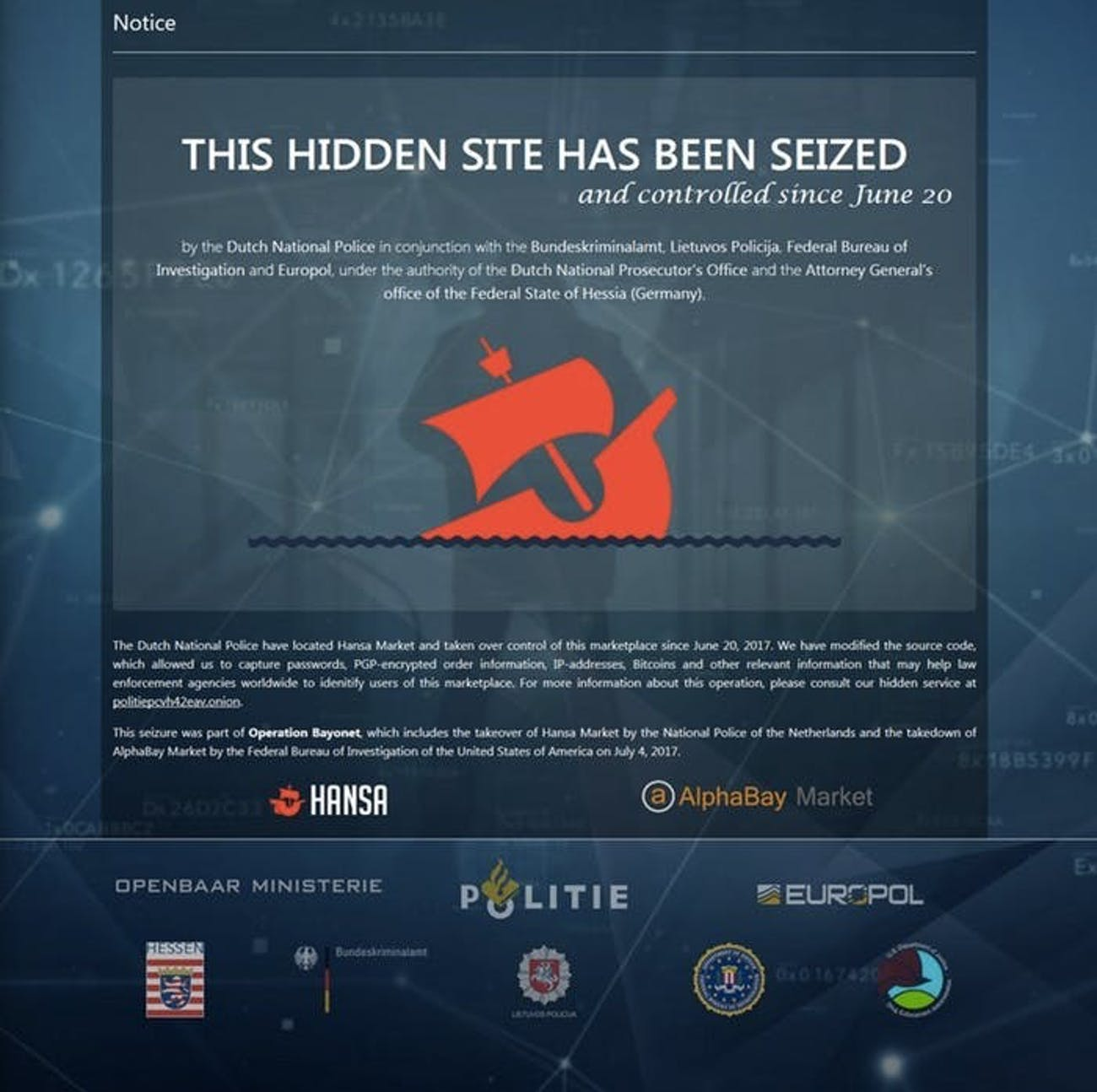 Dark Web Users Are Freaking Out After the DoJ's AlphaBay Bust | Inverse
