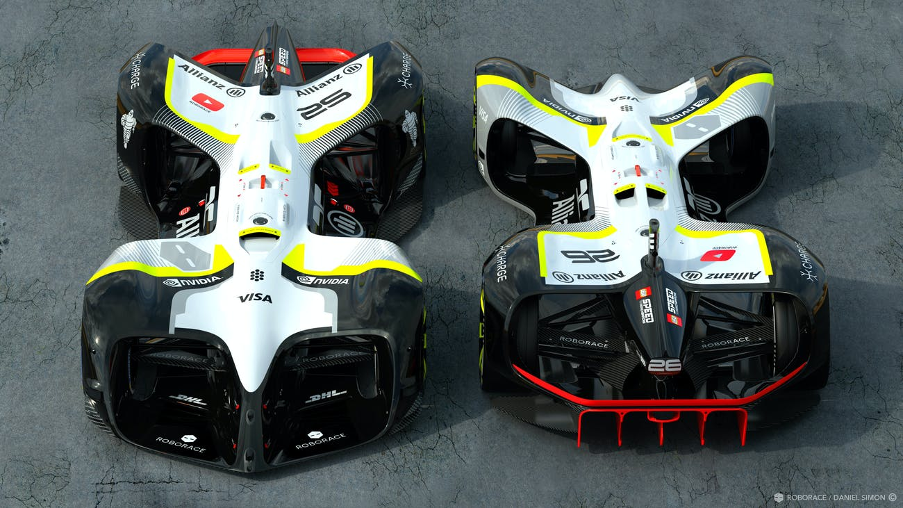 Front and rear of the final Robocar.