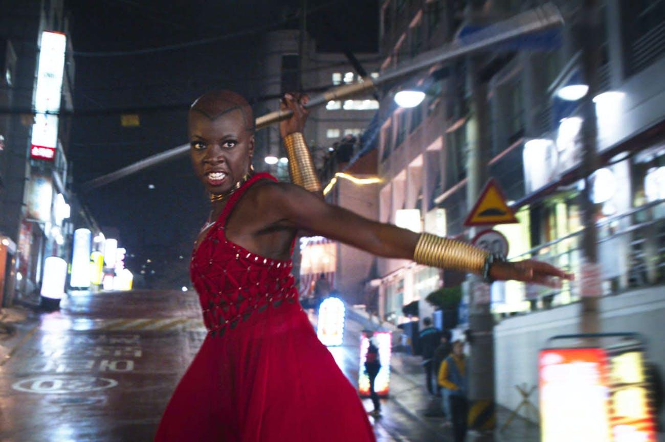 Danai Gurira as Okoye in 'Black Panther'.