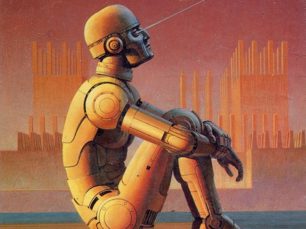 The cover of Asimov's 'Robot Visions', a collection.
