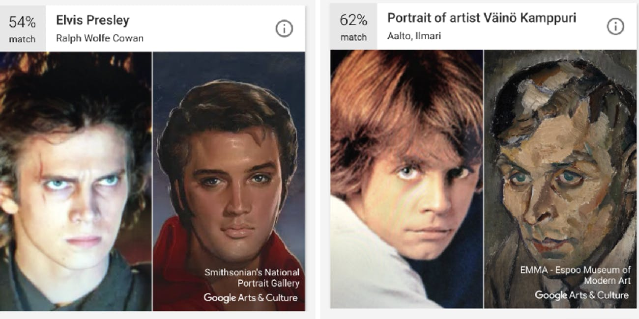 Luke and Anakin and Google Arts