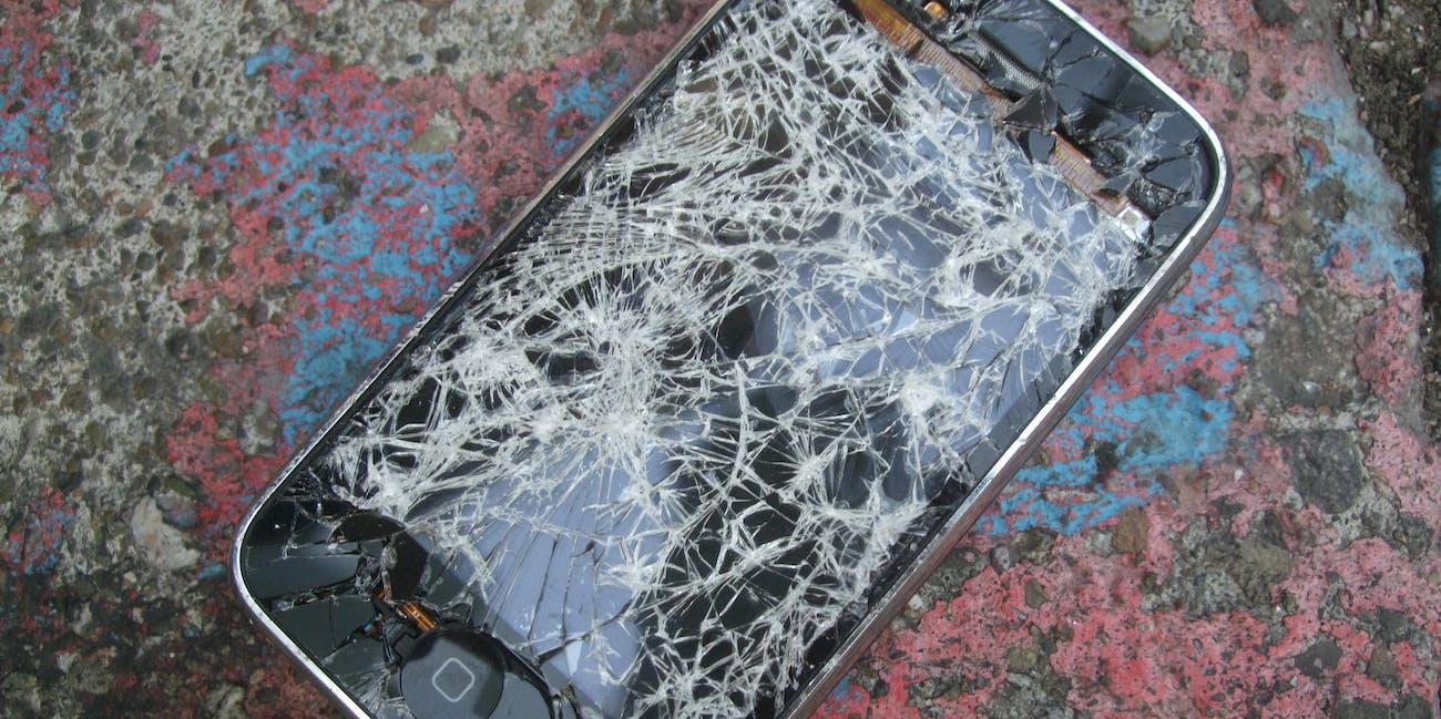 Cracked iPhone