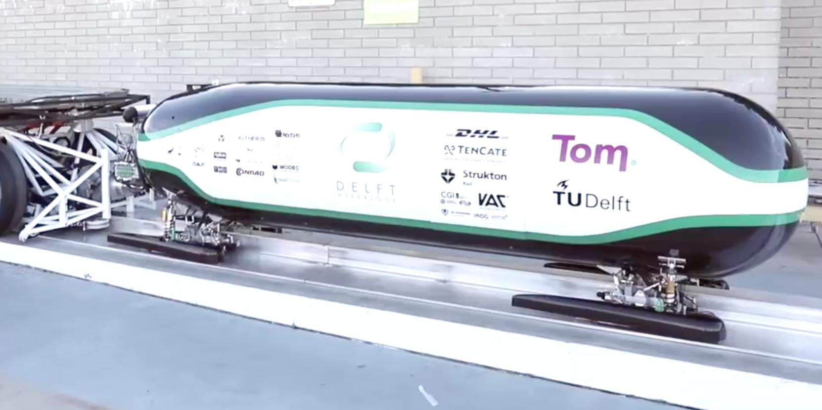Hyperloop Pod Designers Visit SpaceX Test Track
