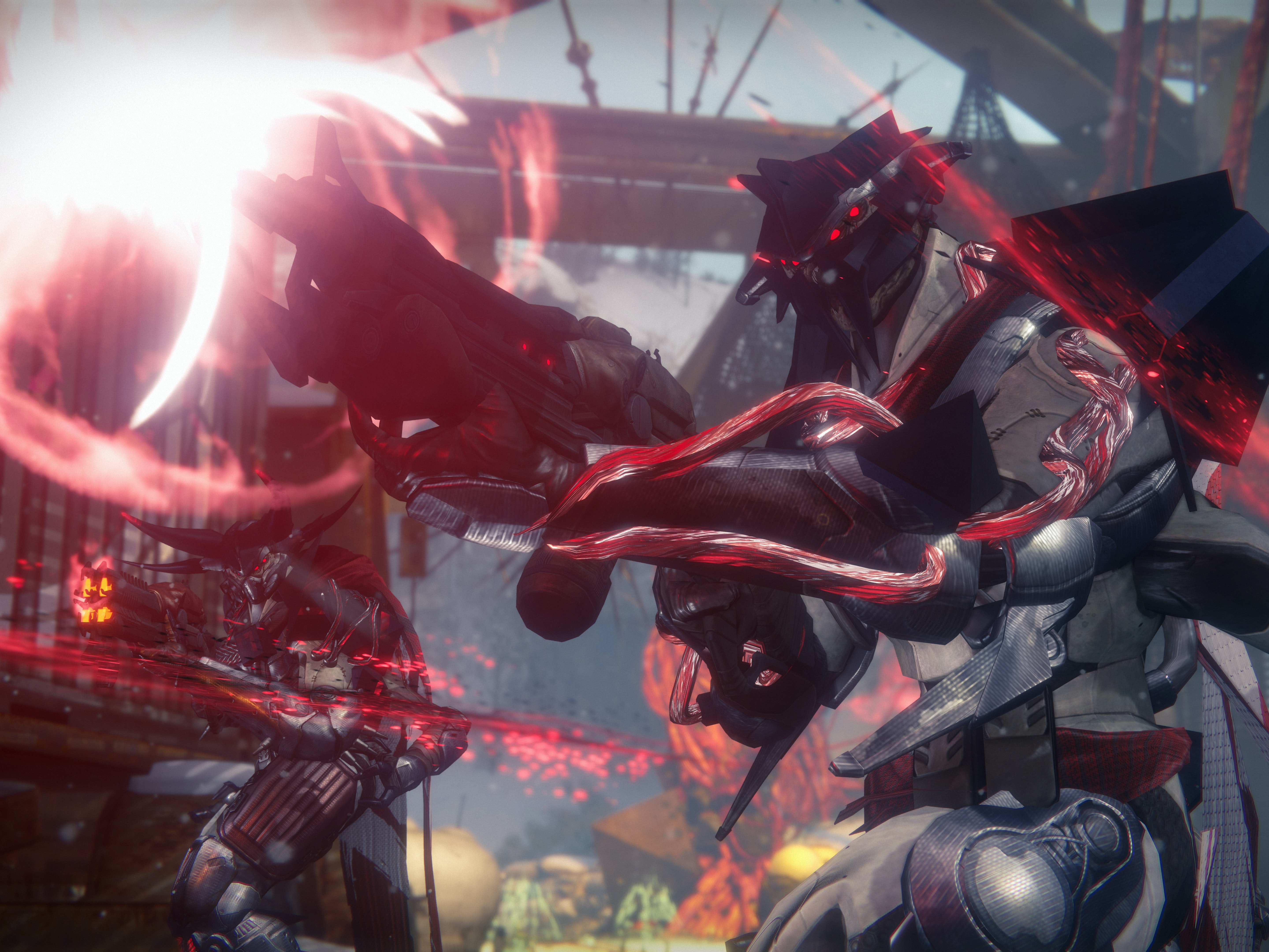 The Fallen use a nanotechnology called SIVA to enhance their weapons and armor.