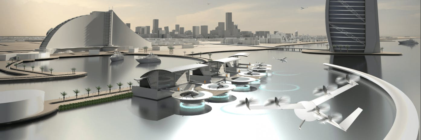 UberAir launched at the Uber Elevate conference which outlined plans for Vertiports in Dallas Fort Worth and Dubai.