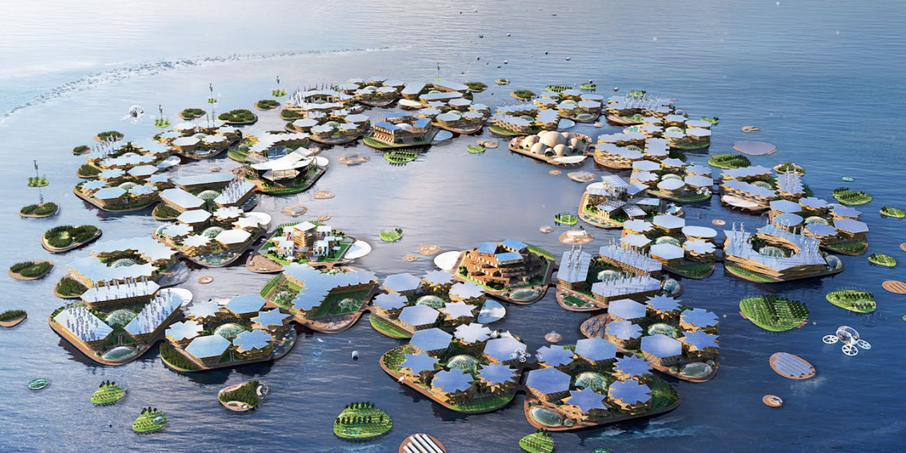 What's to keep floating cities like the one envisioned in this Oceanix illustration, from losing their populations?