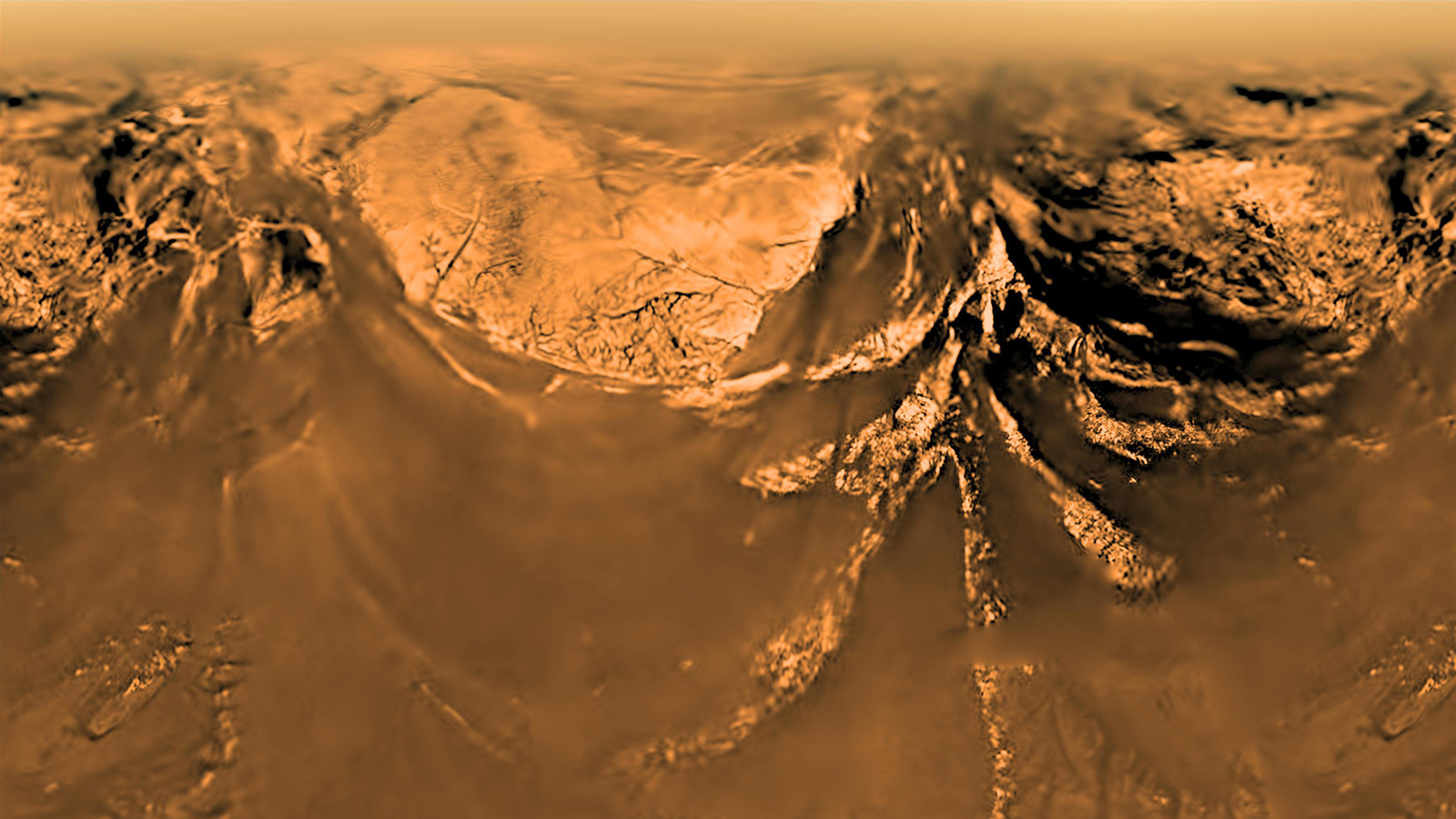 Ancient rivers show lack of plate tectonics on Mars and Titan