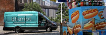 Ford's ridesharing chariot shuttle in New York City.