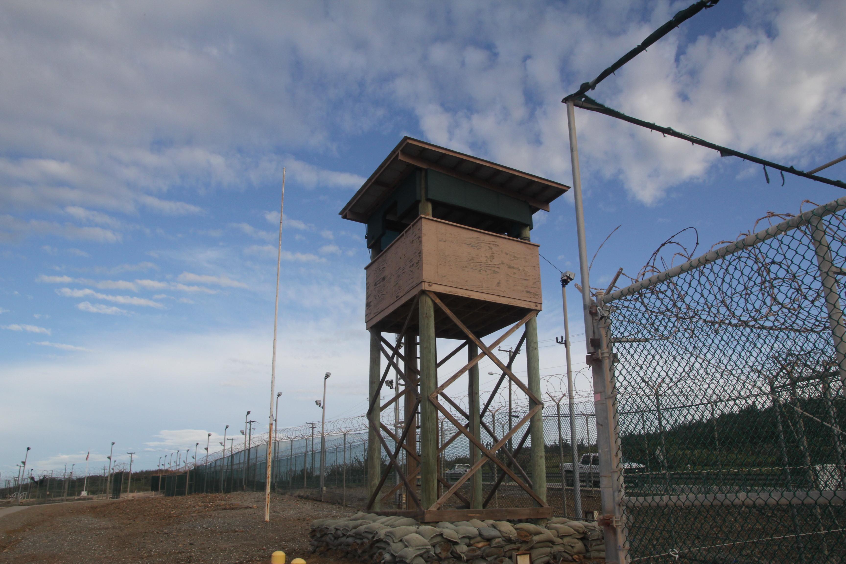 A watchtower at Guantanamo Bay.
