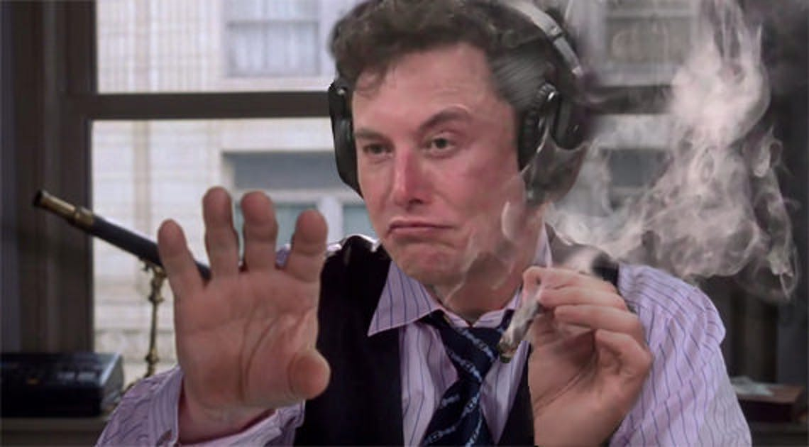 Elon MUsk as J. Jonah Jameson