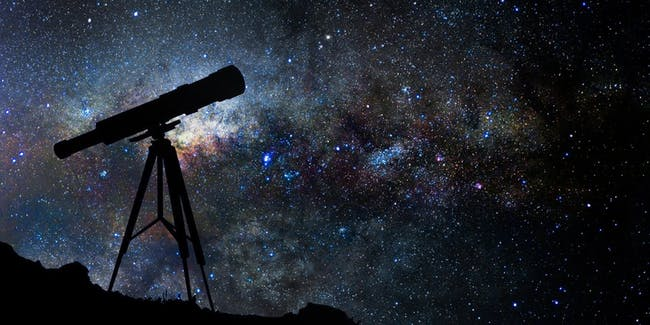 A photo of the night sky
