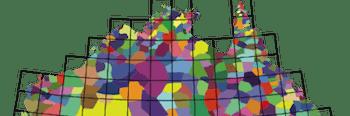 Australia language map region simulation evolution social group