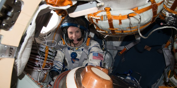 Kate Rubins prepares for the journey back to Earth.