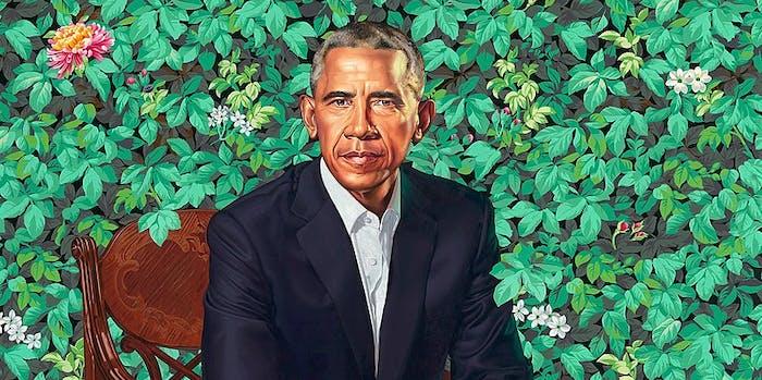 obama, portrait
