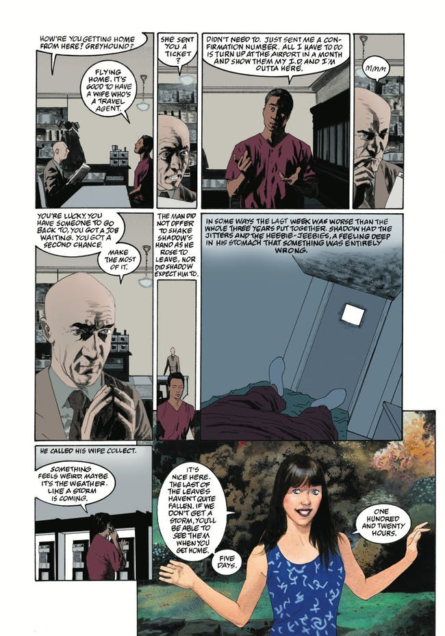 Shadow and Laura Moo in the 'American Gods' Comic