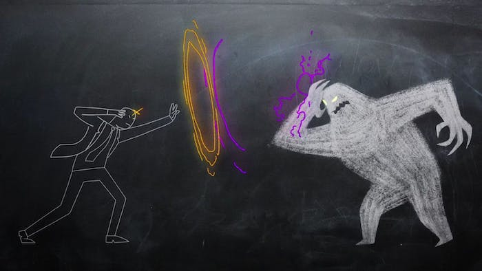 'Legion' depicted Charles Xavier's confrontation with the Shadow King as chalkboard drawings.