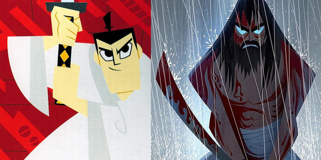 Samurai Jack's original character compared to Toonami's 2017 version.