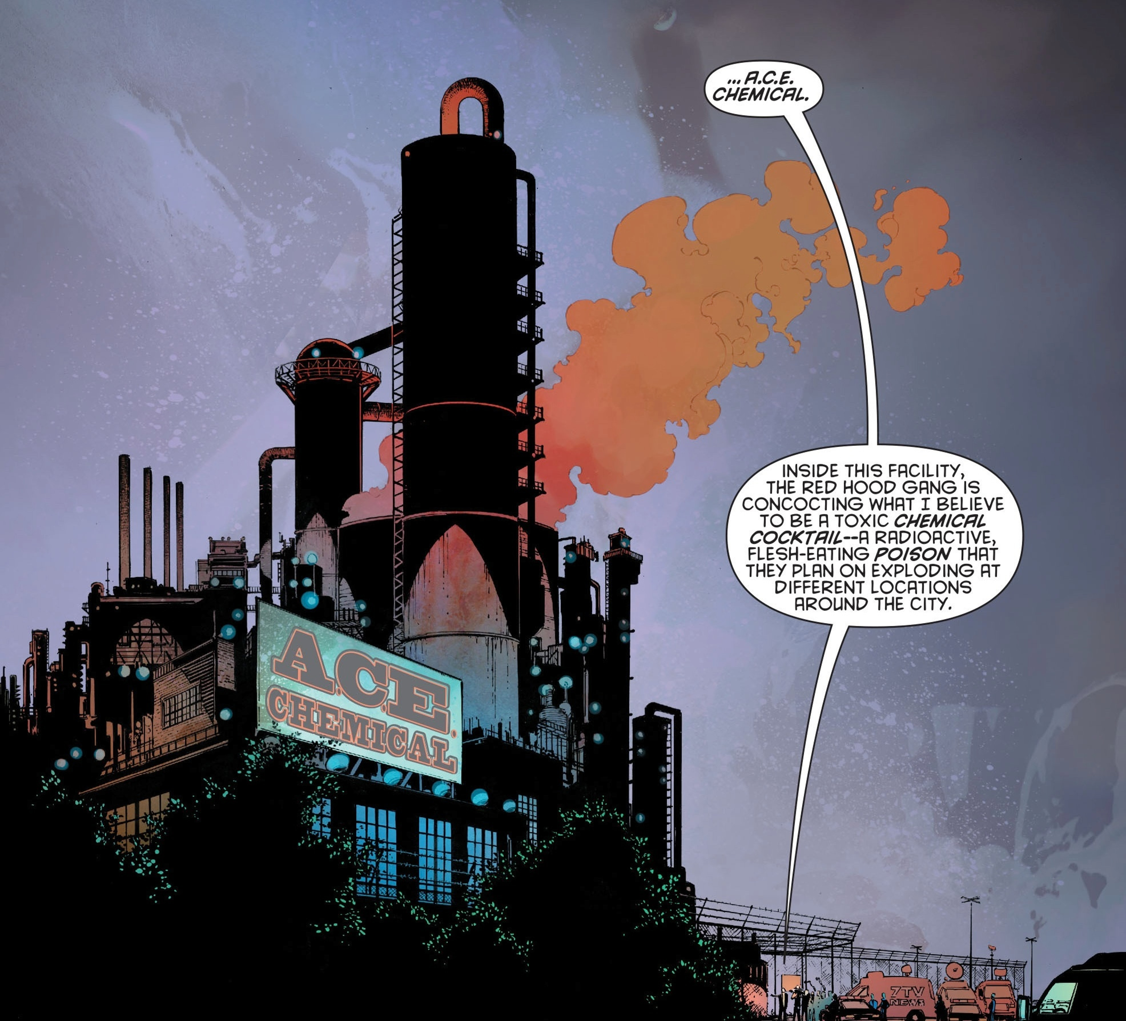 Ace Chemicals, as seen in 'Batman' #24 in the New 52.