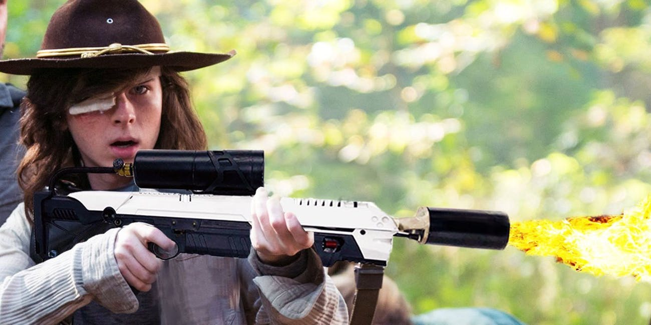 The Walking Dead Carl Elon Musk Flamethrowers