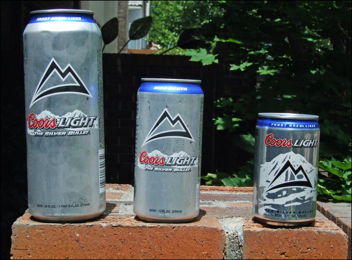 Coors Light. Papa Beer, Mama Beer, Baby Beer.