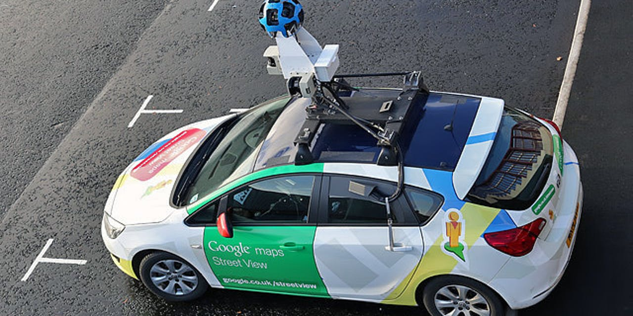 Google Street View car map mapping radar